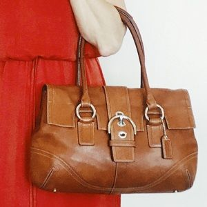 Coach Distressed Soho Brown Leather Satchel Bag